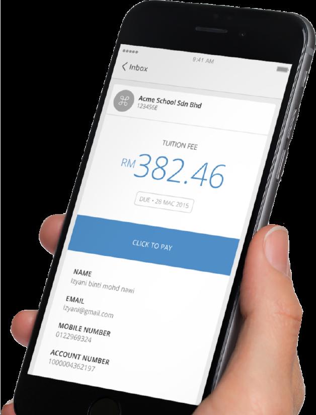 Send bills via email with SMS reminder.